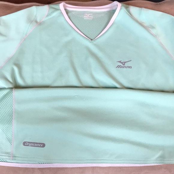 Fitness & Jogging White Bekleidung Mizuno DryScience Cap Sleeve Womens Running Top
